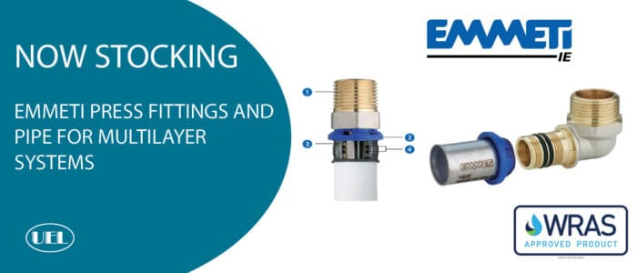 Now Stocking – EMMETI Multilayer Gerpex Fittings